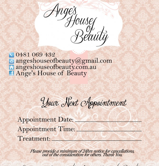 House of Beauty Business Card